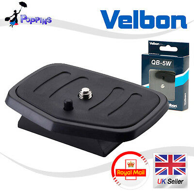 New Genuine Velbon QB-5W Quick Release Plate Tripod Head for CX-560, CX-660