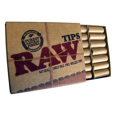 Raw Pre Rolled Filter Tips Chlorine Free Natural Hemp Tips X3