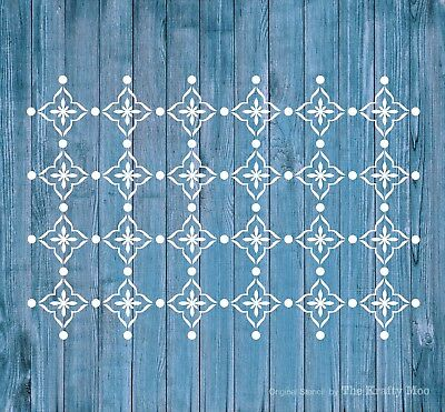 Stencil Mylar Reusable Shabby Chic Vintage Fabric Furniture Wall Art Airbrush