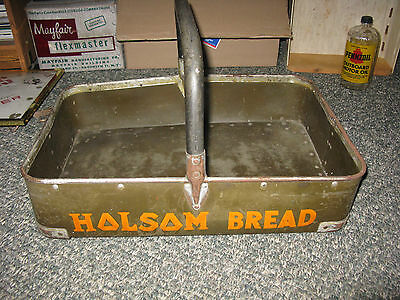 Early Antique Holsom Bread Advertising Delivery Basket
