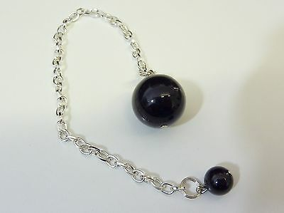 Pendulum dowsing PROTECTION SPINEL BLACK QUALITY AA 16MM VERY RARE