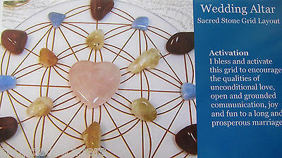 """1 Grid Layout Card WEDDING ALTAR  4""""x5"""" Cardstock Healing Crystals MARRIAGE LOVE"""