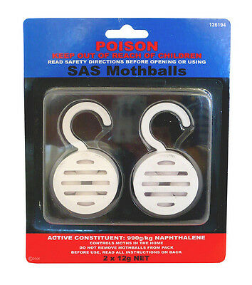 6 Piece Poison Moth Balls With Hanging Cage 126194