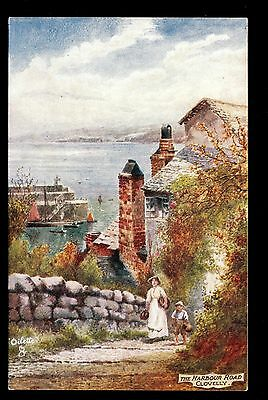 Tuck view walking up Harbour Road Clovelly UK postcard