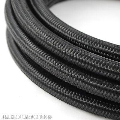 3 metre x JIC AN4 -4 4AN Black Nylon Braided Hose 5mm ID Internal Diametre Hose