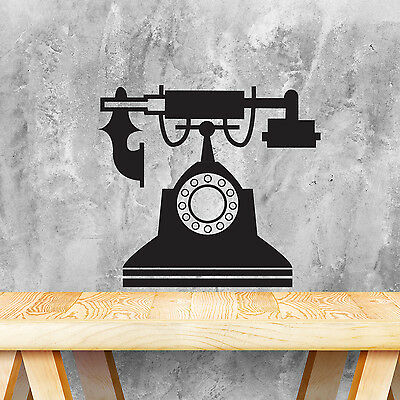 Decoration Mural Wall Sticker Phone Furniture Black Vintage Decal 35cm x 31cm