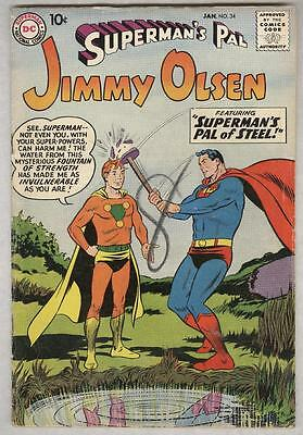 Superman's Pal Jimmy Olsen #34 January 1959 VG Human Flamethrower