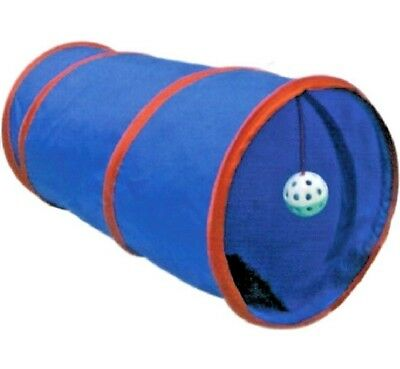 COSY CAT TUNNEL - 55 x 25 cm - Toy Play Bell Ball Pet Animal Kitten Tube PawMits