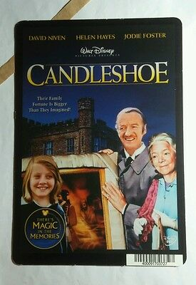 CANDLESHOE DISNEY NIVEN HAYES JODI FOSTER MINI POSTER BACKER CARD (NOT A movie )
