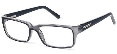 Mens Designer Glasses Frames - Suitable For Prescription Lenses - Grey & Black