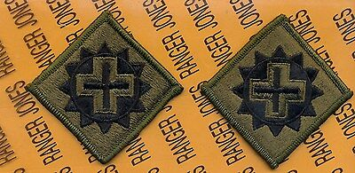 US Army 175th Medical Brigade OD Green & Black uniform patch