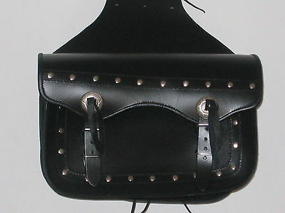 """SADDLE BAG """" Classic Two  Strap Leather Motorcycle  BAG"""