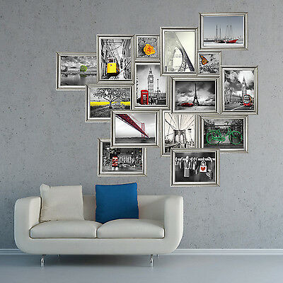 Wall Stickers Photos Decal Views Mural Decoration Silver Frame 160cm x 138cm