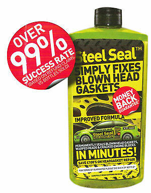 STEEL SEAL 500ml SIMPLY FIXES BLOWN HEAD GASKETS