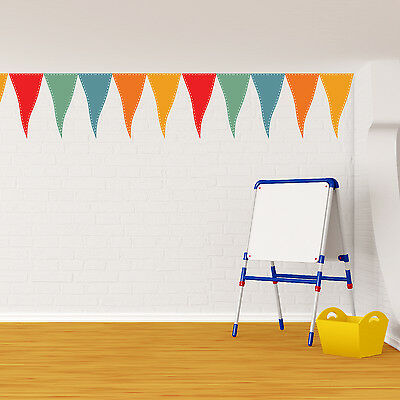 Mural Family Decal Party Flags Nursery Wall Stickers Decoration 17cm x 150cm
