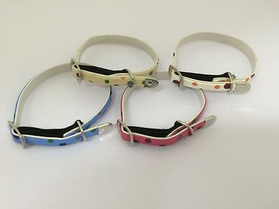 Adjustable Elasticated Cat & Kitten Safety Collar. Bell & ID Barrel Offer. UK