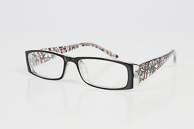 Ladies Designer Glasses Frames - Suitable For Prescription Lenses - Black/Red