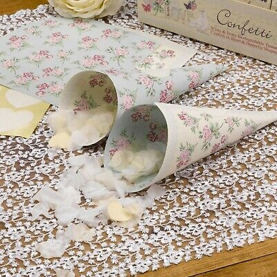 With Love Confetti Cones - Pack of 10 - For your Wedding Day