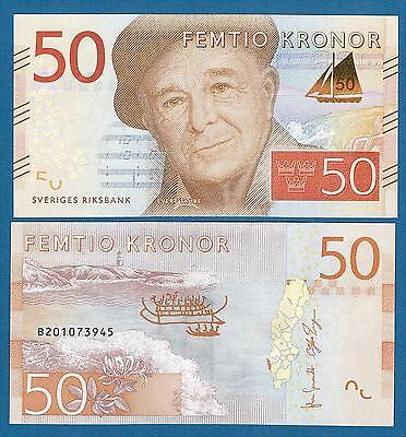 Sweden 50 Kronor P 70 New 2015 UNC Low Shipping! Combine FREE!