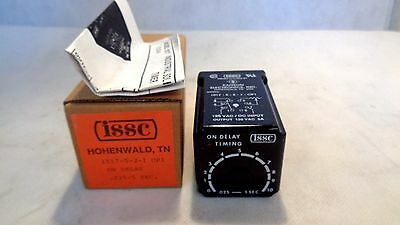 New  In Box Issc 1017-5-2-1-Op1 Solid State Timer Time Delay Relay