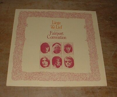 FAIRPORT CONVENTION liege & lief 1970s UK ISLAND LATER PRESSING STEREO VINYL LP