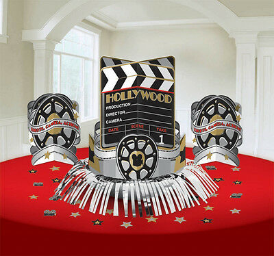 Hollywood Clapboard Film Reel Centrepiece Table Decorations Kit Movie Party