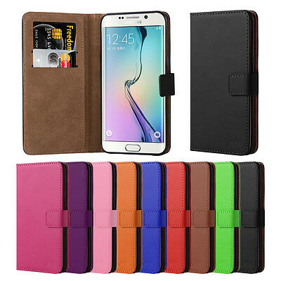 Samsung Galaxy S6 Edge Plus Slim Flip Book Leather TPU Holder Wallet Case Cover