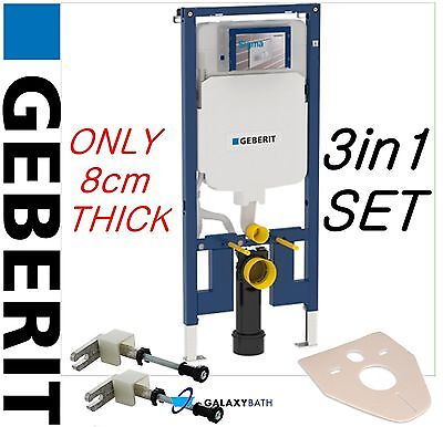 GEBERIT UP720 8cm WALL HUNG WC TOILET FRAME SIGMA CISTERN CONCEALED BRACKETS MAT
