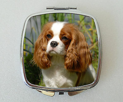 Cavalier King Charles Spaniel Compact Mirror Valentines Mothers Day Gift (Blen)