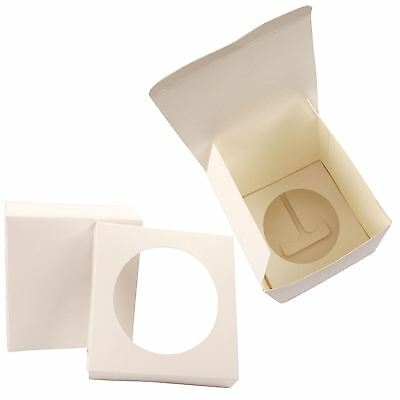 8cm Single White Cupcake Boxes with Insert! Any Quantity! White