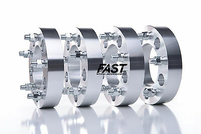 4pc 5x120 to 5x120 Wheel Spacer Adapters | 14x1.5 Studs | 1.25 inch thick. NEW!