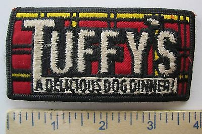 TUFFY'S, A DELICIOUS DOG DINNER - ORIGINAL Vintage DOG FOOD COMPANY PATCH