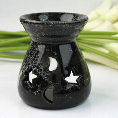 Black Fragrance Oils Simmering Granules Wax Melts Ceramic With Candle Oil Burner