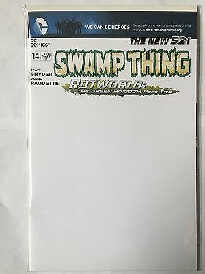 Swamp Thing #14 Blank Variant New 52