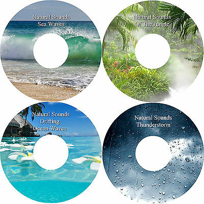 Natural Sounds 4 CD Relaxation Stress Anxiety Relief Deep Sleep Healing Nature
