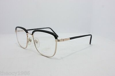 Young Generation Vintage Eyeglasses  Made in Italy 1555A RARE Gold Black 53mm