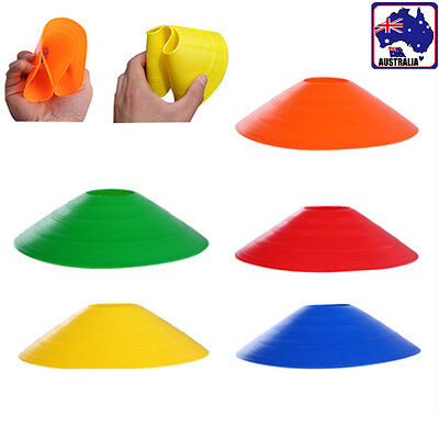 20x 50x Soccer Marker Disc Cone Saucer Football Training Sports Exercise OFSMA81