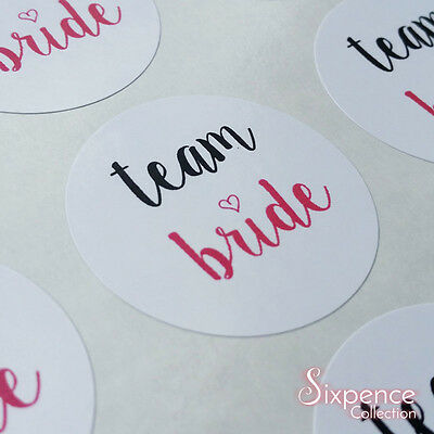 35 x Team Bride Stickers - Hen Night / Hen Party / Bachelorette Party