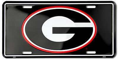 Georgia Bulldogs Car Truck Tag License Plate Black G Bulldogs Sign University