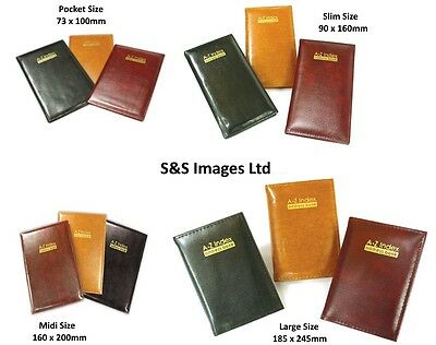A - Z Index Leather Cover Executive Padded Address Book Assorted Size & Colours