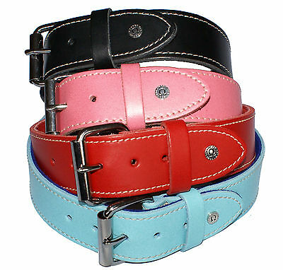Omega Extra Strong, Extra Wide Real Leather Collars, Staffie/Terrier/Mastiff,