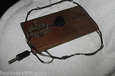 Vintage Telegraph Machine Morse Code Key unknown maker as is