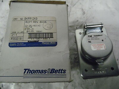 New in Box Russellstoll SKRR12XG 20A 250V/600 Vac 12W 11P Ever-Lok Receptacle