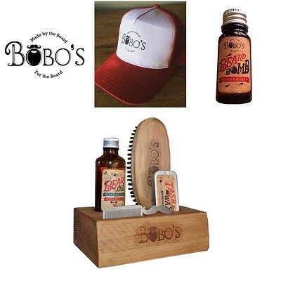 Bobos Beard Company Beard Care Kit Beard Oil ,brush ,wax ,male Grooming Gift Set