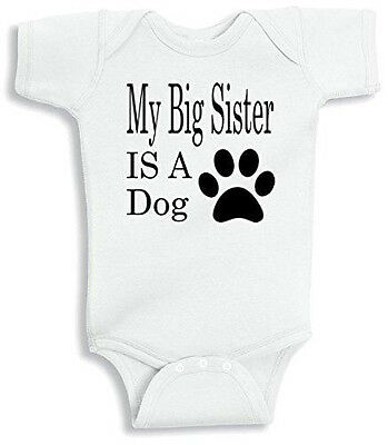 Lil Shirts My Big Sister Is A Dog Baby Bodysuit