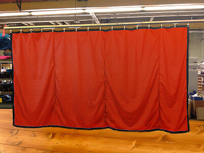Mandarin Orange Curtain/Stage Backdrop/Partition, Non-FR, 9 H x 20 W