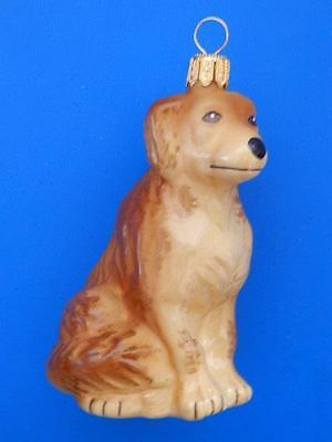 Golden Retriever Dog European Blown Glass Christmas Tree Ornament Decoration