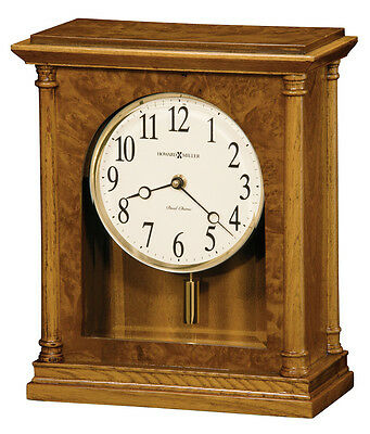 Howard Miller Oak Finished Classic/Contemporary Chiming Mantel Clock  635-132