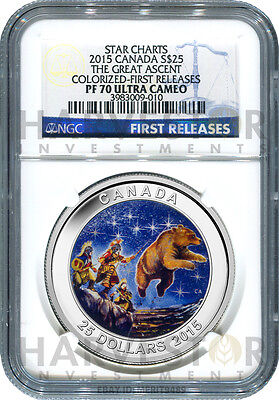 2015 Canada Silver Star Charts - The Great Ascent - Ngc Pf70 First Releases -New