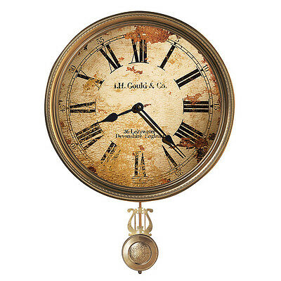 Howard Miller Antique Brass Finish Wall Clock 620-441 J H Gould & Co. Iii  13""